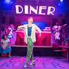 'Roller Diner, Home of the Full English Breakfast' Play by Stephen Jackson performed at the Soho Theatre, London, UK