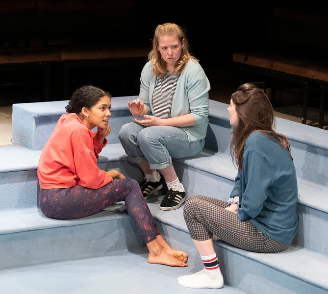 'Scenes with Girls' Play performed at the Royal Court Theatre Upstairs, London, UK