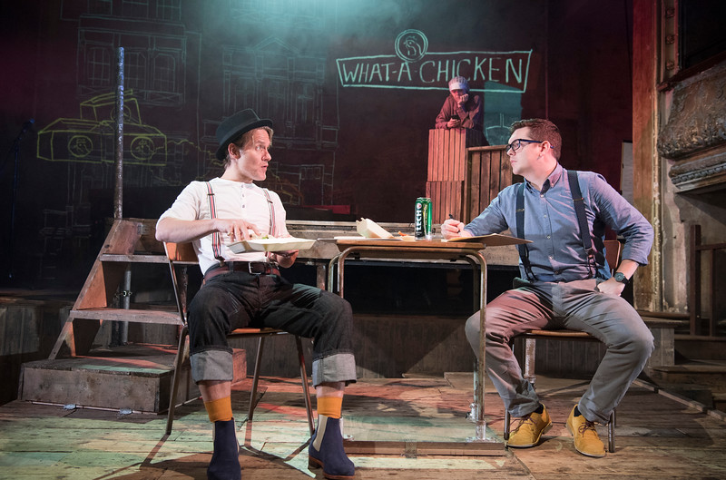'Sketching' Play by James Graham performed at Wilton's Music Hall, London, UK