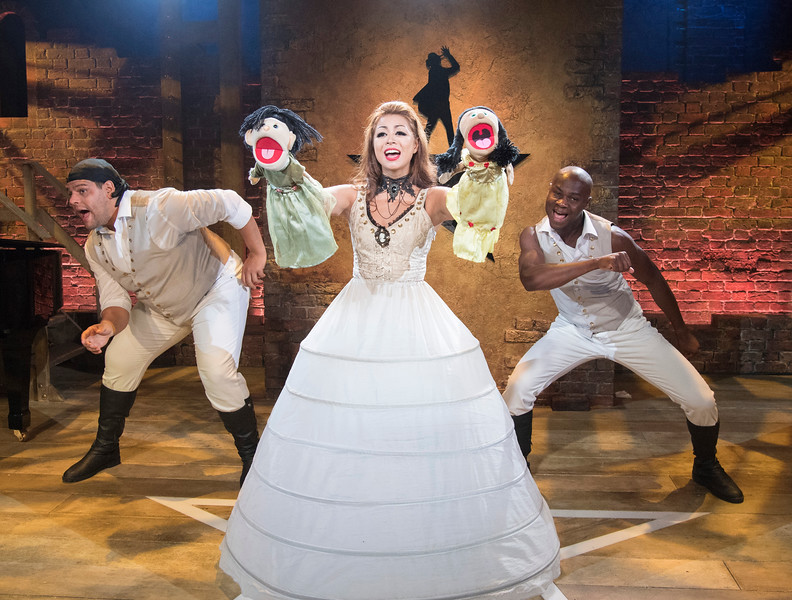 'Spamilton; An American Parody' Musical by Gerard Alessandrini performed at the Menier Chocolate Factory Theatre, London, UK