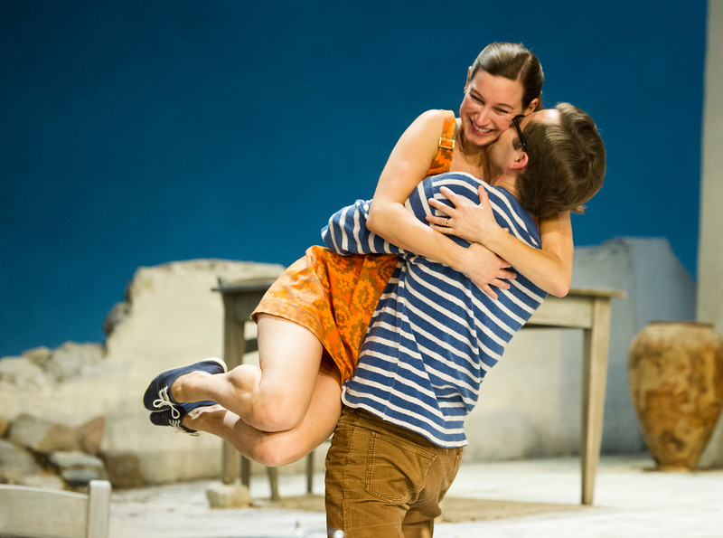 'Sunset at the Villa Thalia' Play by Alexi Kaye Campbell performed in the Dorfman Theatre at the Royal National Theatre, London, UK