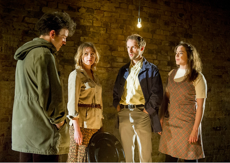 'The Angery Brigade' Play performed at the Bush Theatre, London, UK