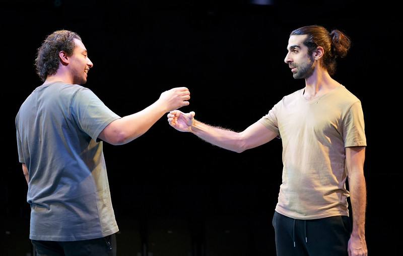 'The Arrival' play performed at the Bush Theatre, London, UK