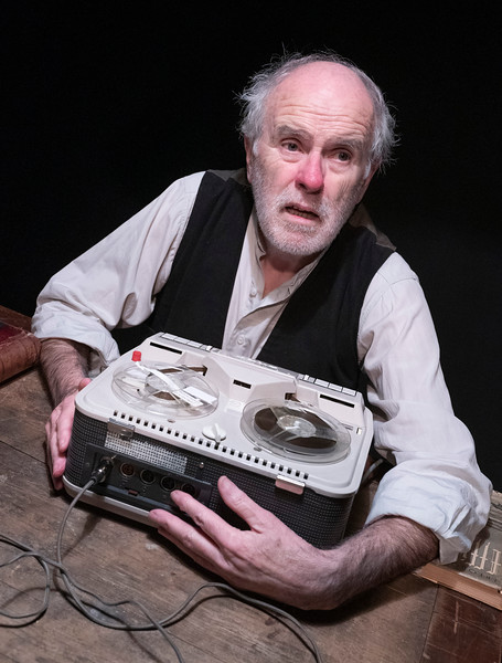 Krapp's Last Tape' Play as part of the Beckett Triple Bill performed at the Jermyn St Theatre, London, UK