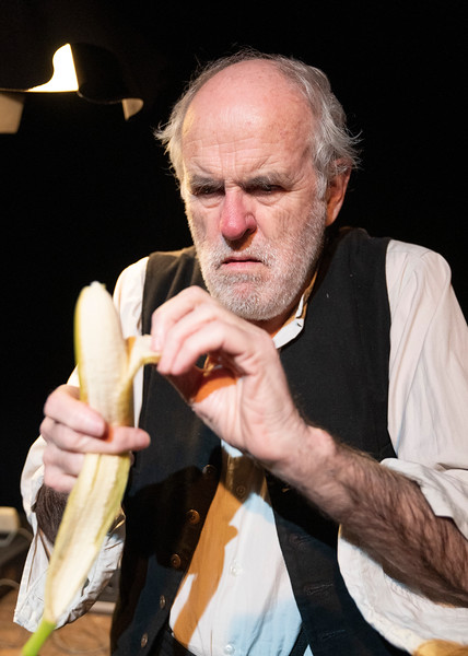 Krapp's Last Tape' Play as part of the Beckett Triple Bill performed at the Jermyn St Theatre, London, UK