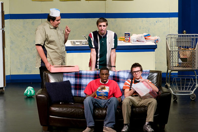 "UHS Theatre Dept. presents, ""The Boys Next Door""."