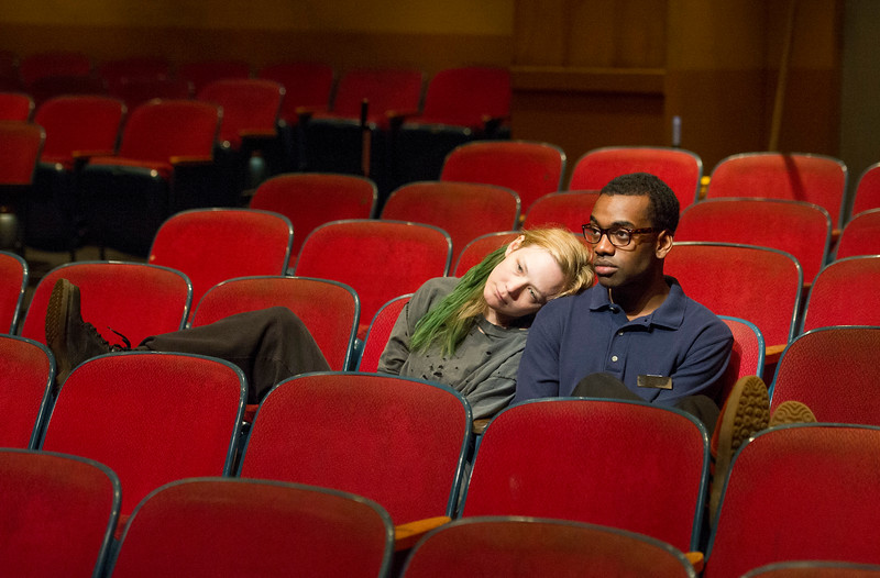 'The Flick' Play by Annie Baker performed in the Dorfman Theatre, Royal National Theatre, London, UK