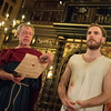 'The Inn at Lydda' Play performed in the Sam Wanamaker Theatre at Shakespear's Globe Theatre in London, UK