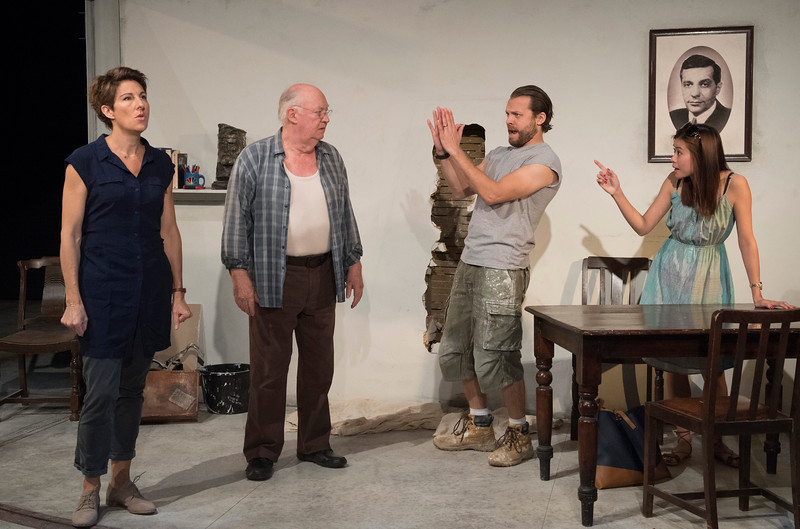 'The Intelligent Homosexual's Guide to Capitalism and Socialism with a key to the Scriptures' Play by Tony Kushner performed at Hampstead Theatre, London, UK