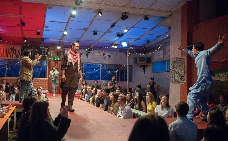 'The Jungle' Play performed at the Playhouse Theatre, London, UK