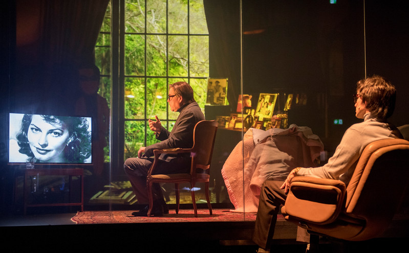 'The Kid Stays in the Picture' Play written and directed by Simon McBurney performed at the Royal Court Theatre, London, UK