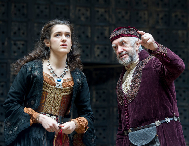 """'The Merchant of Venice""""Play performed at Shakespeare's Globe Theatre, London, UK"""