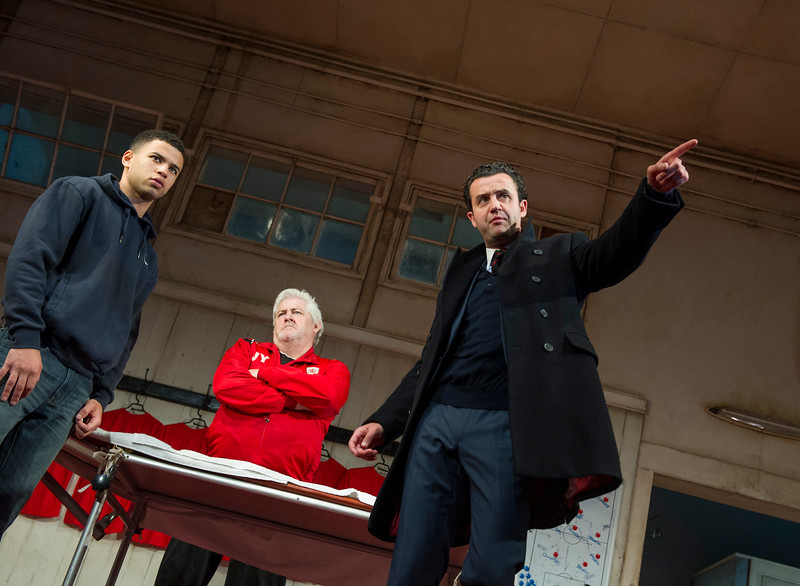 'The Red Lion' Play by Patrick Marber performed in the Dorfman Theatre at the Royal National Theatre, London, UK