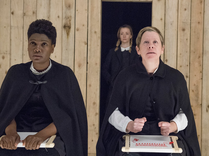 'The Sewing Group' Play by E V Crowe performed at the Royal Court Theatre Upstairs, London, UK