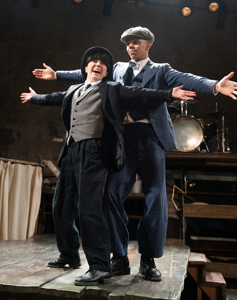 'The Strange Tale of Charlie Chaplin and Stan Laurel' Play performed by Told By an Idiot Theatre Compant at Wilton's Music Hall, London, UK