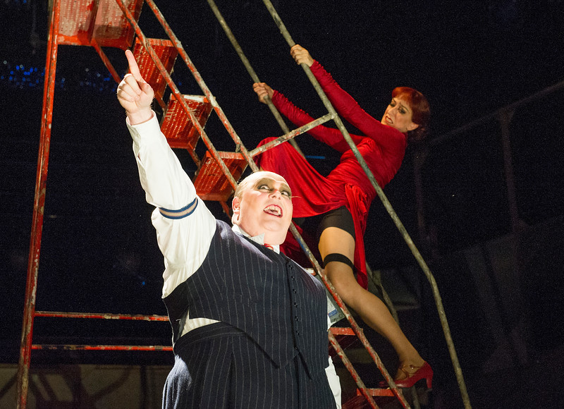'The Threepenny Opera' Play performed in the Olivier Theatre at the Royal National Theatre, London, UK