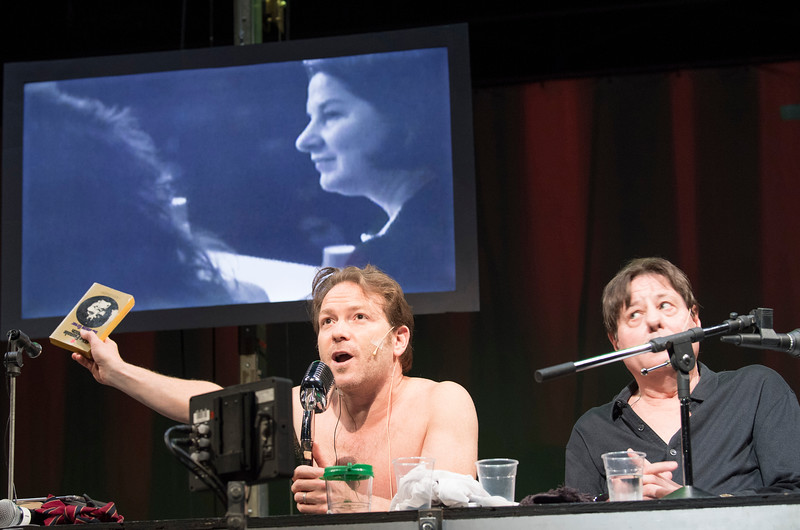 'The Town Hall Affair' Play performed by The Wooster Group Theatre Company at the Barbican Theatre, London, UK