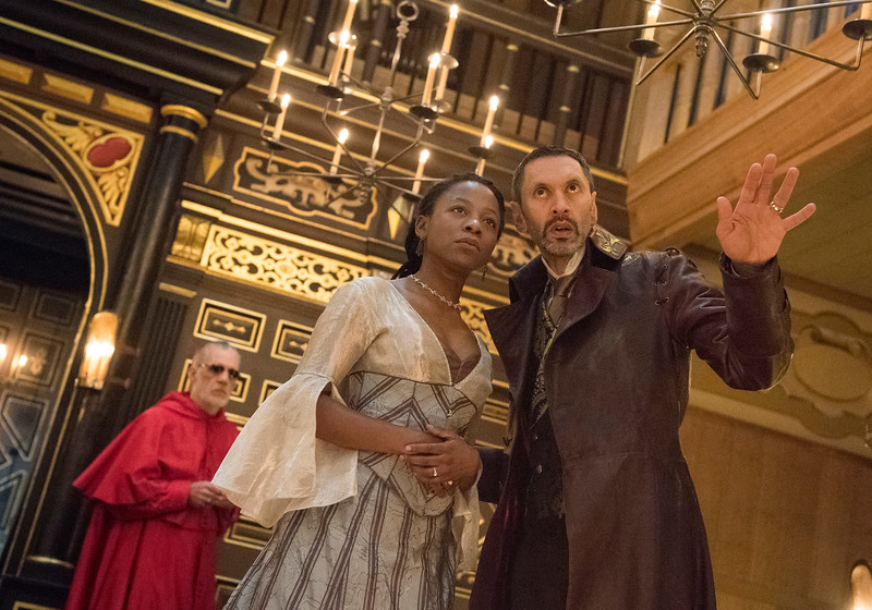 'The White Devil' performed in the Sam Wanamaker Theatre at Shakespeare's Globe, London, UK