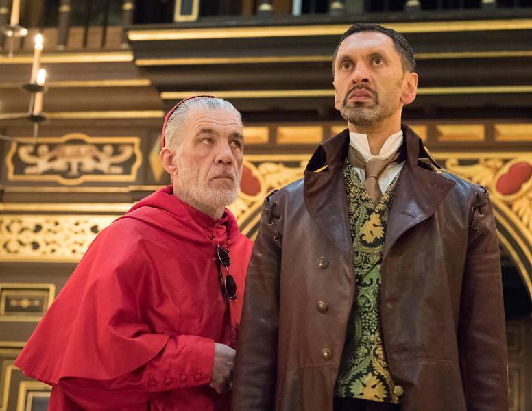 'The White Devil' performed in the Sam Wanamaker Theatre at Shakespeare's Globe, London, UK