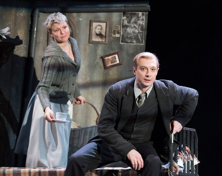 'Three Comrades' Play performed by the Sovremennik Theatre company from Russia at the Piccadilly Theatre, London, Uk