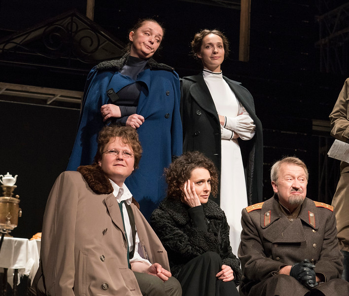 'Three Sisters' Play performed by the Maly Theatre Company at the Vaudeville Theatre, London, UK