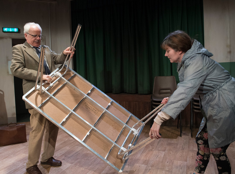 'Trestle' Play performed at the Southwark Playhouse, London, UK
