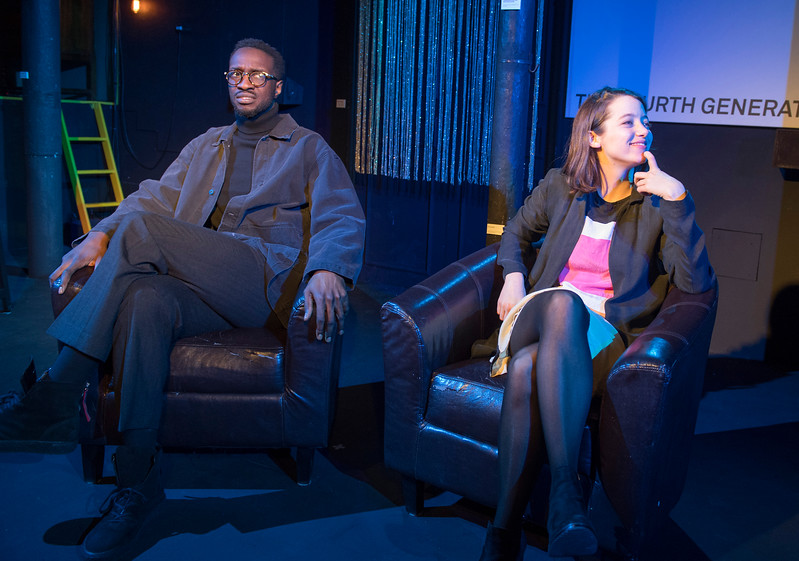 'Trust' Play performed at the Gate Theatre, London, UK