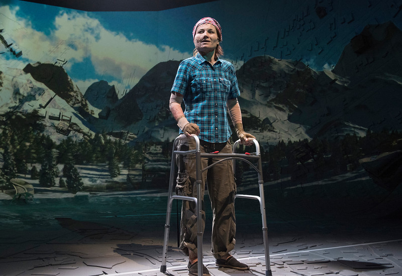 'Ugly Lies The Bone' Play performed in in the Lyttelton Theatre at the Royal National Theatre, London, UK