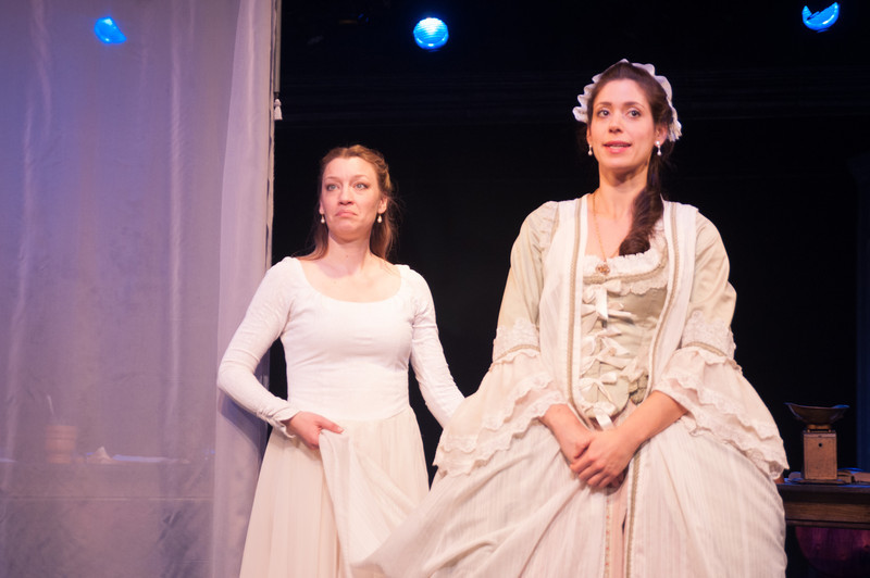 Kim Stauffer (Emilie) and Suzanne Ankrum. Photo by Enrico Spada.