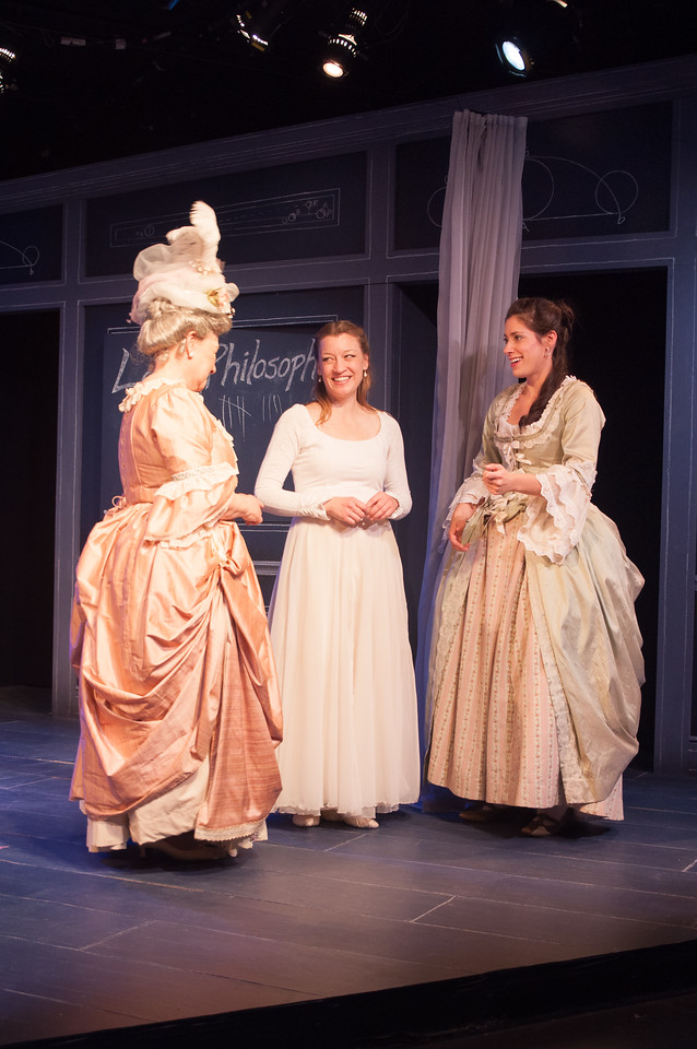 Joan Coombs, Kim Stauffer (Emilie) and Suzanne Ankrum. Photo by Enrico Spada.