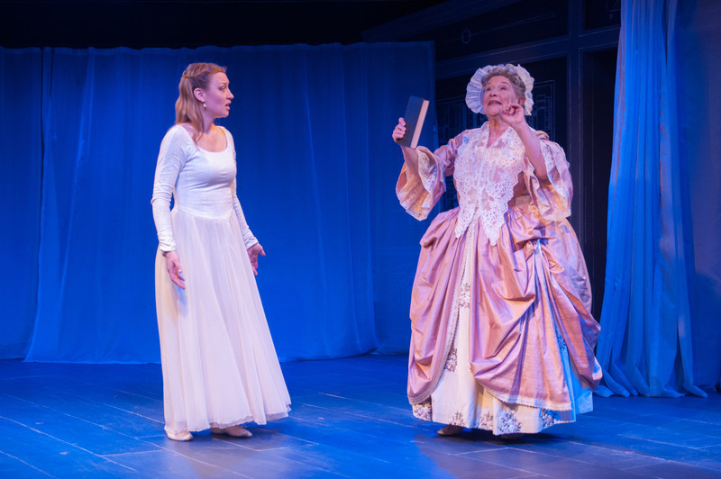 Kim Stauffer (Emilie) and Joan Coombs. Photo by Enrico Spada.