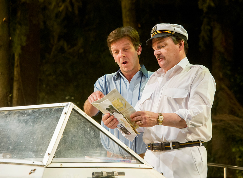 'Way Upstream' Play by Alan Ayckbourn performed at Chichester Festival Theatre, UK