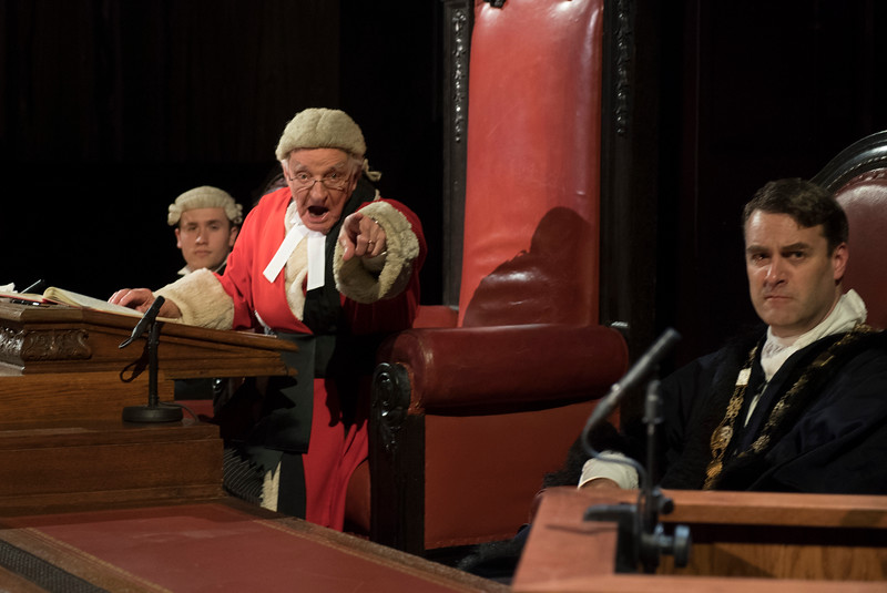 'Witness for the Prosecution' Play by Agatha Christie performed in the London County Hall, London, UK