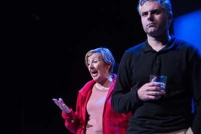 Berna Gordan and Ian McGuirk performing a scene from Bruce Grahams The Outgoing Tide which runs in the Everyman Theatre Pic Darragh Kane.
