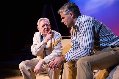 Michael Twomey and Ian McGuirk performing a scene from Bruce Grahams The Outgoing Tide which runs in the Everyman Theatre   Pic Darragh Kane.