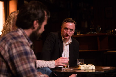 Gary Lydon performing a scene from Decadent Theatres production of  Martin McDonaghs The Weir.  PIC DARRAGH KANE