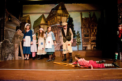 Tiny Tim with Cratchit children