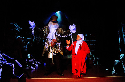 Richard Traobloabell  as Ghost Jacob Marley with Scrooge Dave Teeter