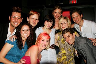 2nd cast shot Birdland 7/14/08 Joelle Teeter, Adam Mantell, Scott Barnhardt, Krysta Rodriquez, Jessica Burrows, Becca Ayers, Sebastian Arcelus, Matt Morrison