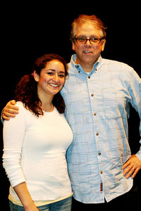 """Joelle with Stuart Ross creator of """"FOREVER PLAID"""" 4/07 JO played Lillith in new high school version  """"Sounds of Plaid"""""""