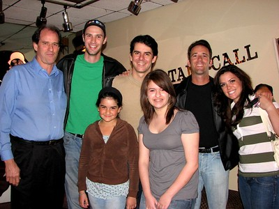 David, Kaily and Sara with OKLAHOMA cast, Mikey, Johnny, Ed and Michelle 4/07