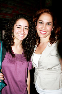Joelle with Andrea Burns..IN THE HEIGHTS 7/17/08