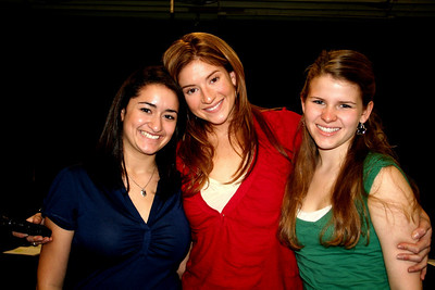 Joelle, Annaleise and Katie at the Nurse reading in Hollywood..Annaleise 11/06 soon to be new and final Belle on Broadway