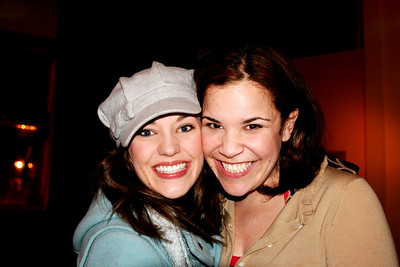 Laura Osnes and Lindsay Mendez at PLANET HOLLYWOOD 03/25/08