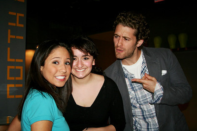 Kensie and Jo with Matt Morrison at the NURSE reading