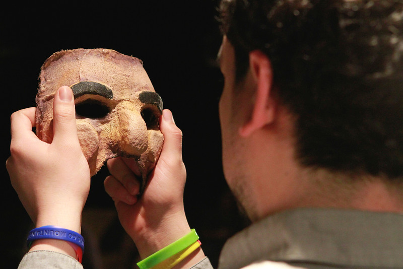Mask and body work comprised early rehearsals.