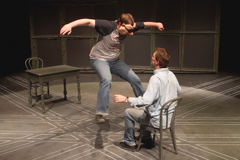 Fight Call<br /> BFA student Nicholas Parker and MFA student Greg Holt