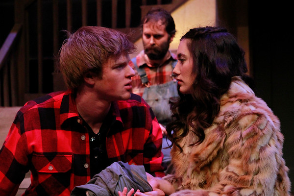Actors: Will Stout as Vince, Ben Roberts as Tilden, and McKenna Kirchner as Shelly