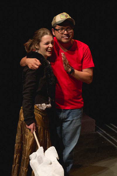 Special moment between director Victor Maog and MFA actor Audrey Ahern
