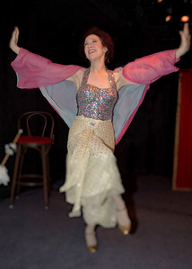 "Singer Sally Sherwood as Eva Tanguay, one of four turn-of-the-century vaudeville performers she recreates in her one-woman show, ""Good Bye, My Lady Love.""  It opened in 1999 at New York's Shooting Star Theater."